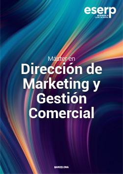 Folleto del Máster en Dirección de Marketing y Gestión Comercial en Barcelona width=