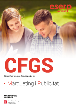 Folleto del CFGS - Marketing y Publicidad en Barcelona width=