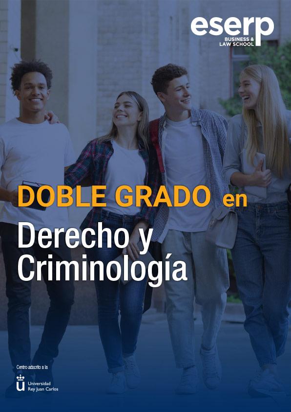 Folleto Doble Grado en Derecho y Criminología en Madrid