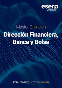 Folleto del Máster Online en Dirección Financiera, Banca y Bolsa width=