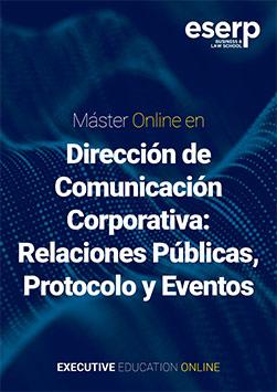 Folleto Máster en Comunicación Corporativa Online