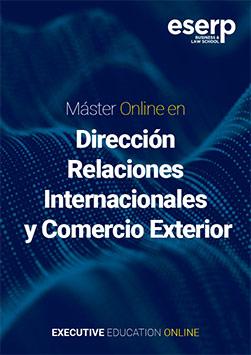 Folleto del Máster Online en Dirección de Relaciones Internacionales y Comercio Exterior width=