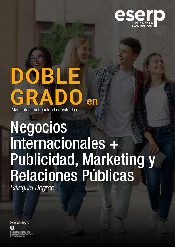 Doble Grado en Negocios Internacionales, Publicidad, Marketing y Relaciones Públicas
