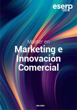 Folleto del Máster en Marketing e Innovación Comercial en Mallorca width=
