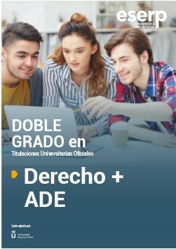 Folleto del Doble Grado en Derecho y ADE en Madrid width=
