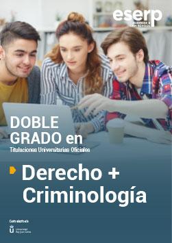 Doble Grado en Derecho + Criminología en Madrid