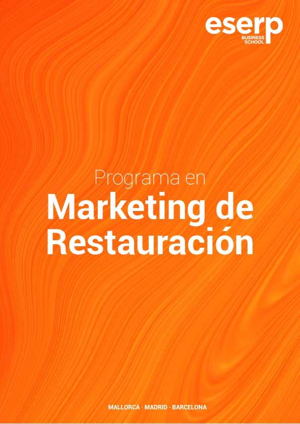 Folleto del Curso en Marketing en Restauración