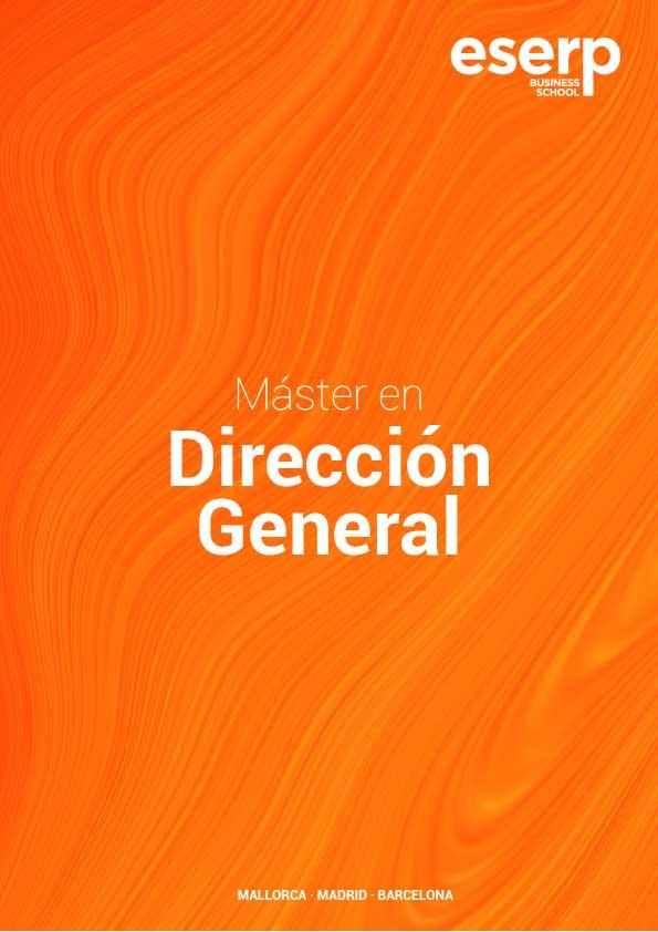 Folleto Máster en Dirección General de Empresas en Mallorca