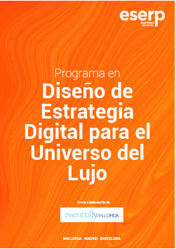 Portada folleto diseño de estrategia digital para empresas de lujo