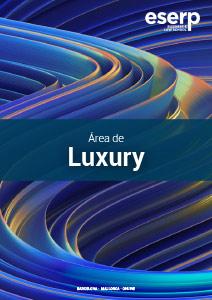 Folleto Masters en Luxury