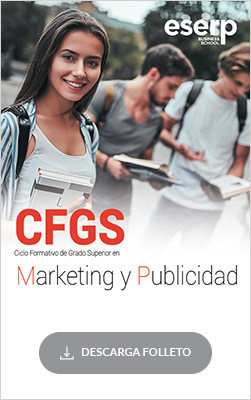 Folleto del Ciclo Formativo de Grado Superior (CFGS) en Marketing y Publicidad en Mallorca
