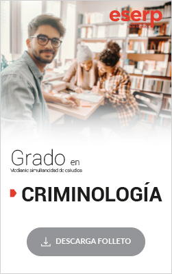 Folleto del Grado en Criminología en Barcelona