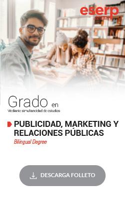 Folleto del Grado en Publicidad, Marketing y Relaciones Públicas en Barcelona
