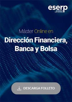 Folleto del Máster Online en Dirección Financiera, Banca y Bolsa