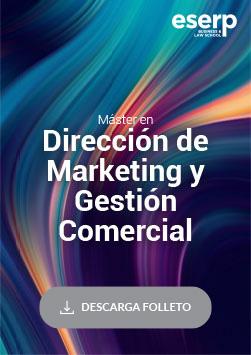 Folleto del Máster en Dirección de Marketing y Gestión Comercial en Barcelona