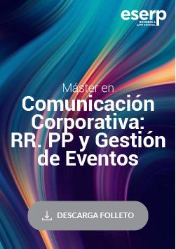 Folleto del Folleto Máster en Comunicación Corporativa: Relaciones Públicas y Gestión de Eventos en Madrid