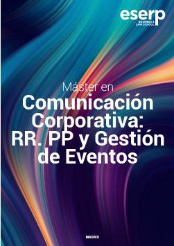 Folleto del Máster en Comunicación Corporativa: Relaciones Públicas y Gestión de Eventos en Madrid width=
