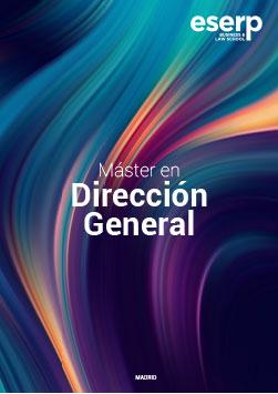 Folleto del Máster en Dirección General en Madrid width=
