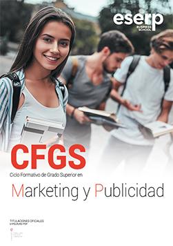 Folleto del Ciclo Formativo de Grado Superior (CFGS) en Marketing y Publicidad en Mallorca width=